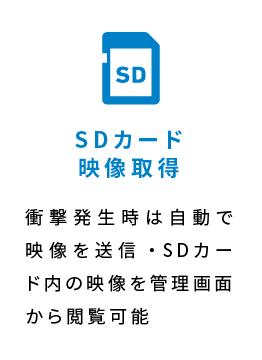 SDカード映像取得 衝撃発生時は自動で映像を送信・SDカード内の映像を管理画面から閲覧可能
